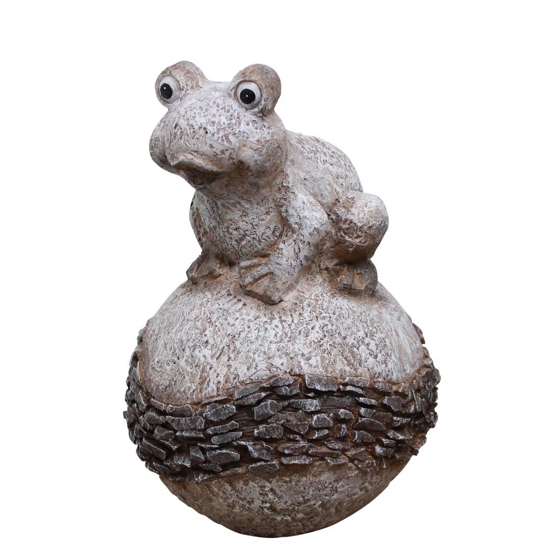 Gartenfigur Frosch – Big Classic – Braun, Helmes Home & Garden günstig online kaufen
