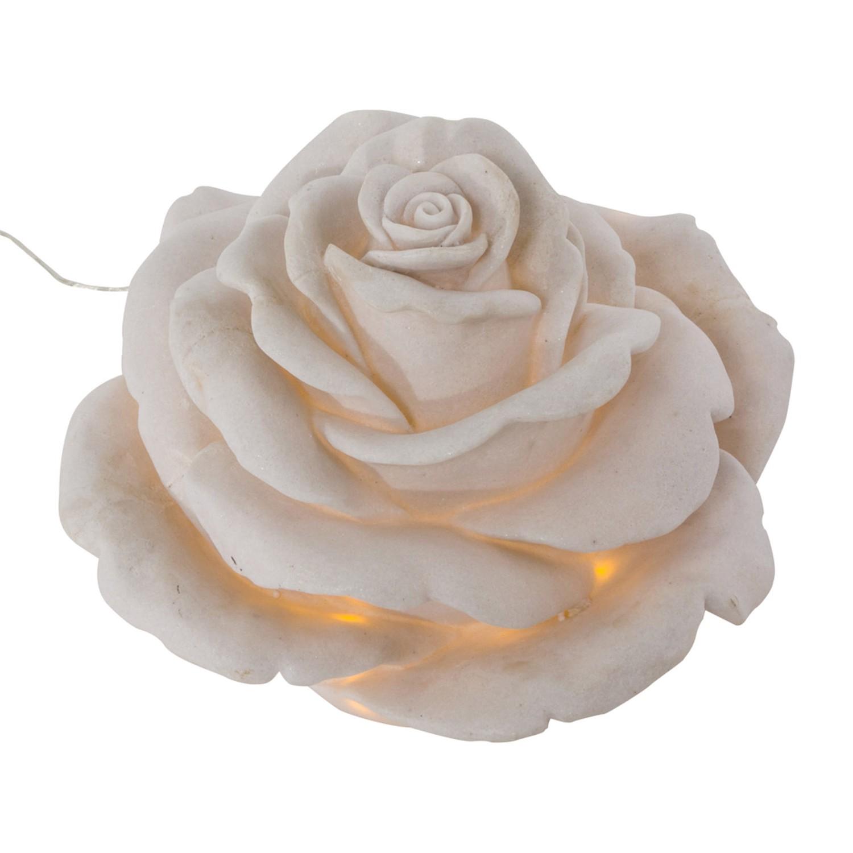 Gartenleuchte Rose ● Sandstein ● Weiß- Pure Day