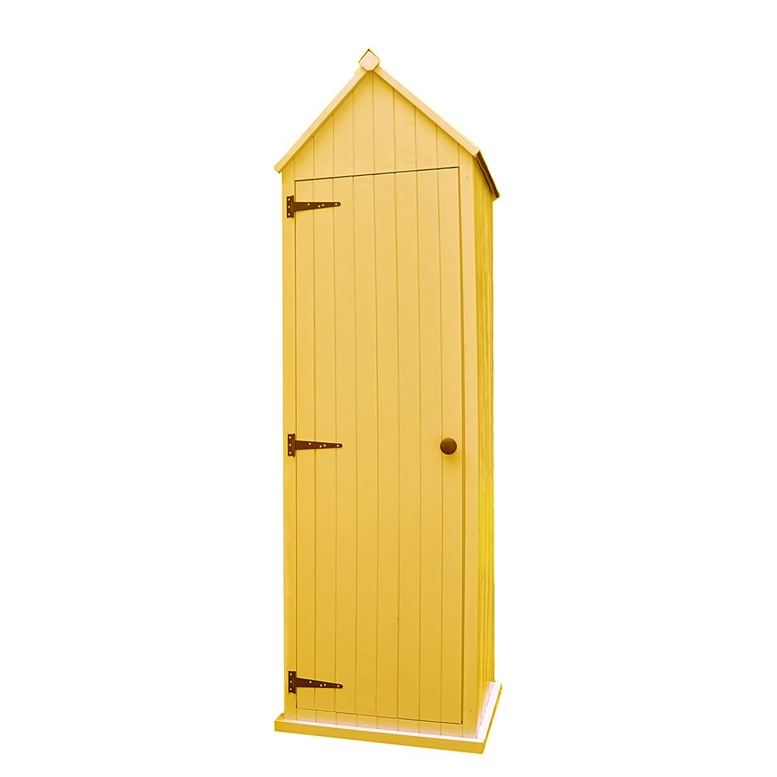 Gartenschrank Color – Fichte massiv – Gelb, Leco bestellen