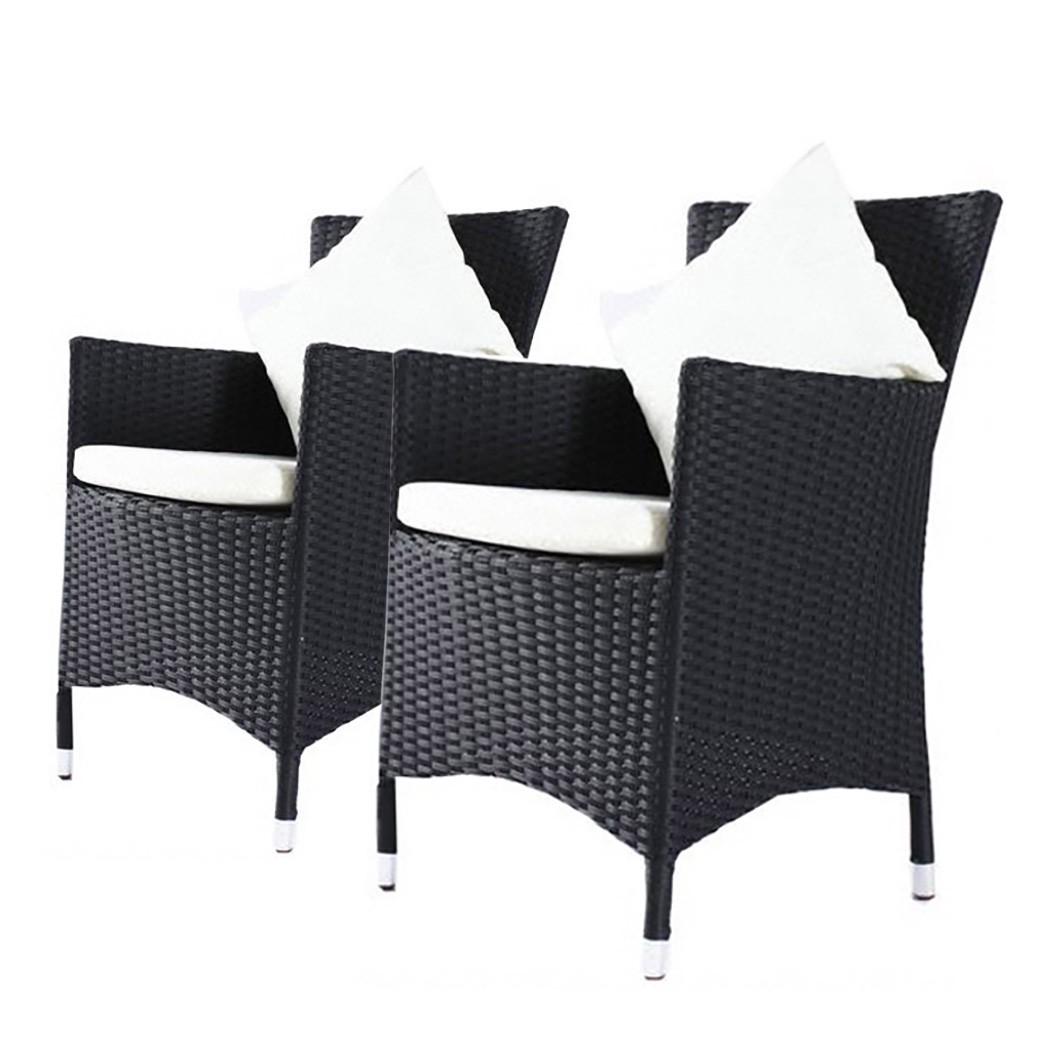 gartensessel mit polstern polyrattan schwarz outflexx. Black Bedroom Furniture Sets. Home Design Ideas