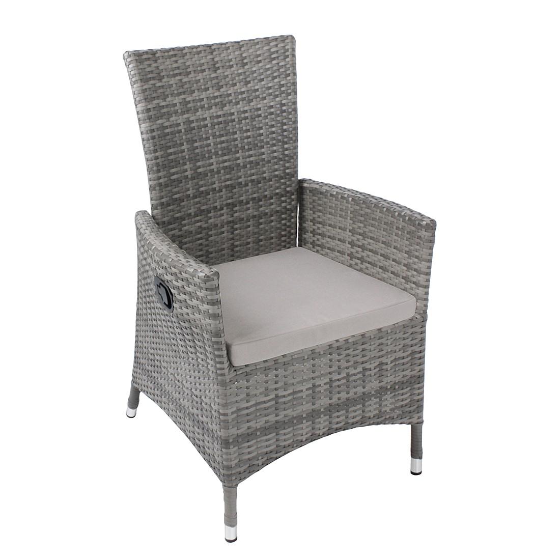 Gartensessel polyrattan grau  Polyrattan Sessel Verstellbare Ruckenlehne ~ Möbel Inspiration und ...
