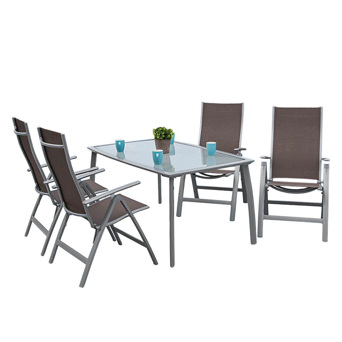 gartenessgruppe carrara iii 5 teilig aluminium taupe merxx g nstig online kaufen. Black Bedroom Furniture Sets. Home Design Ideas