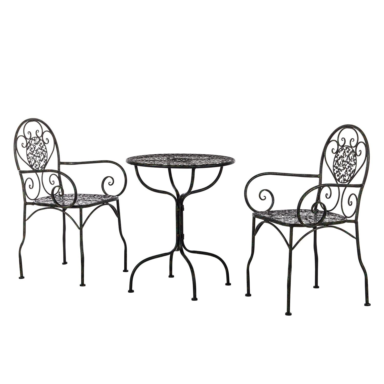 Gartensitzgruppe Figaro (3-teilig) - Metall, Kings Garden