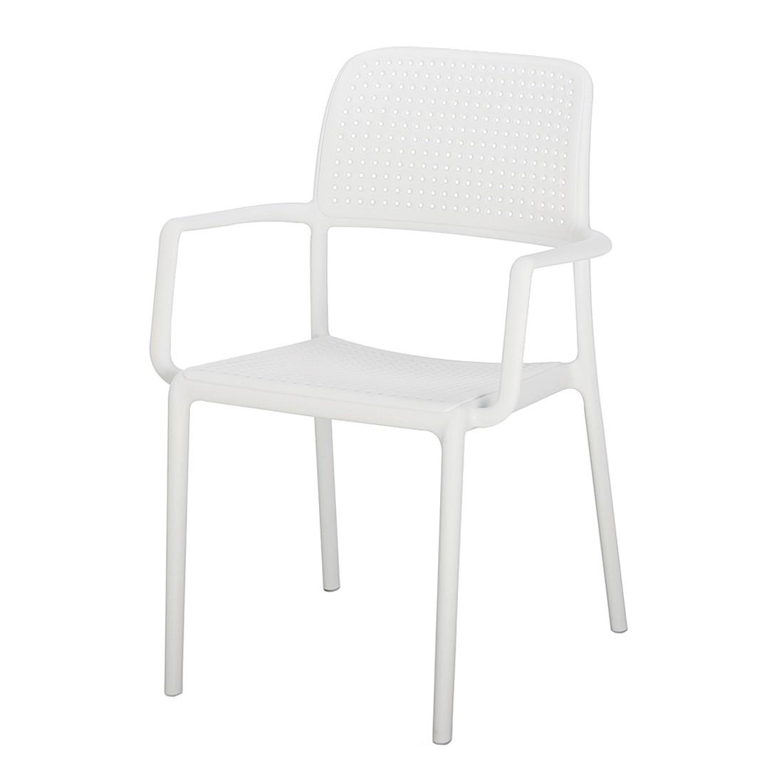 Gartenstuhl Locarno - Kunststoff - Weiß, Best Freizeitmöbel