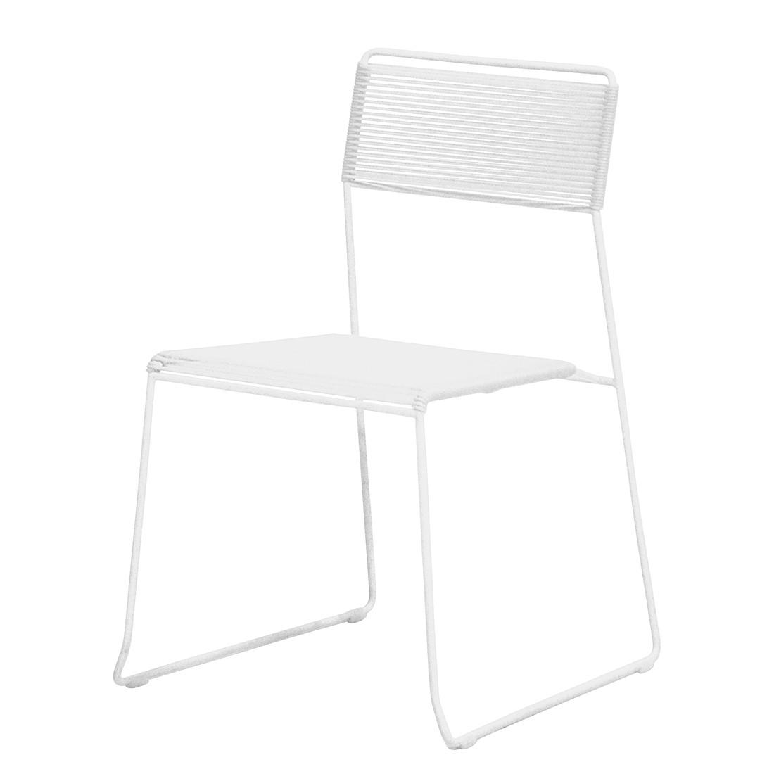 Gartenstuhl Log (2er-Set) – Stahl/Kunststoff Weiß, Jan Kurtz online kaufen