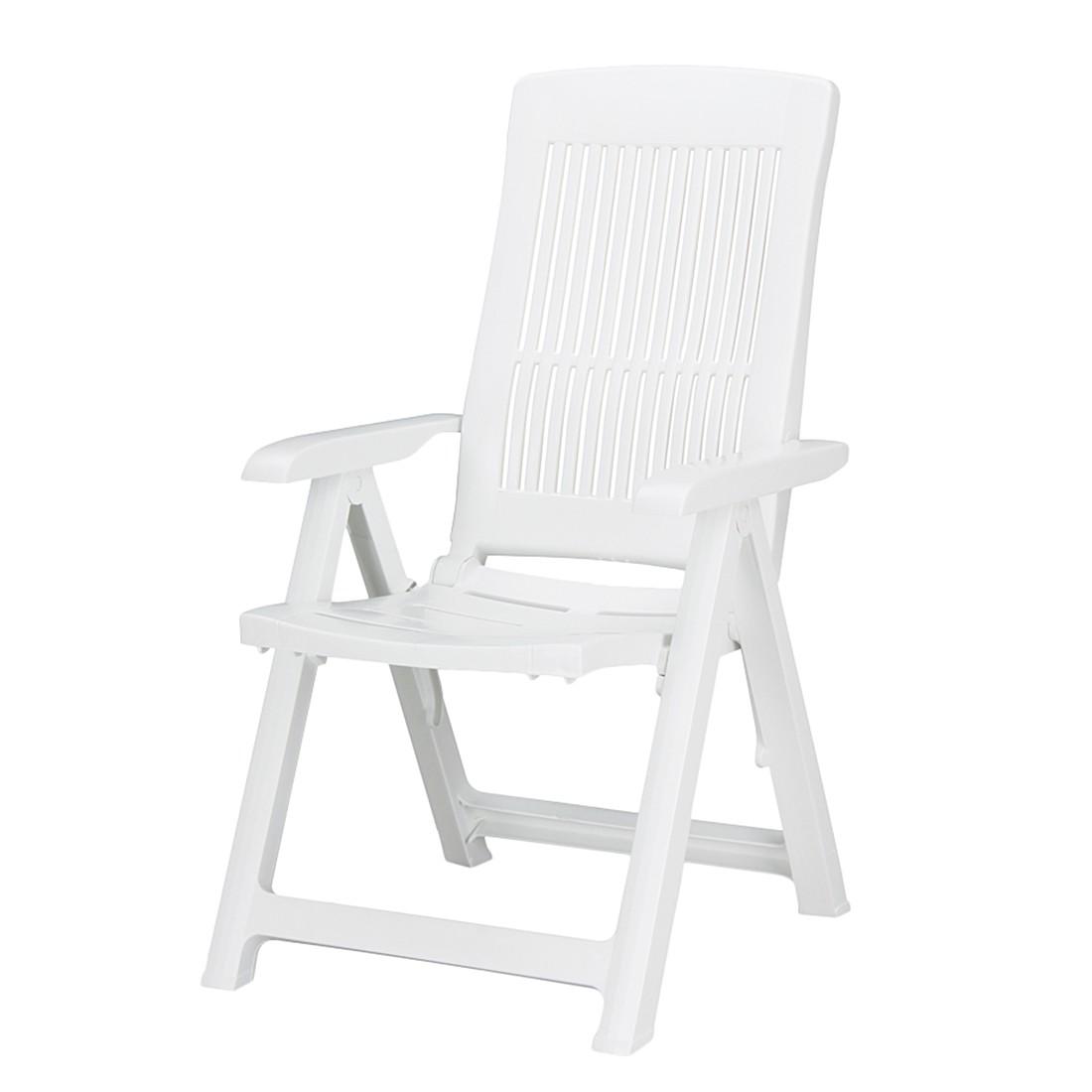Gartenstuhl Santiago (klappbar) - Kunststoff Weiß, Best Freizeitmöbel