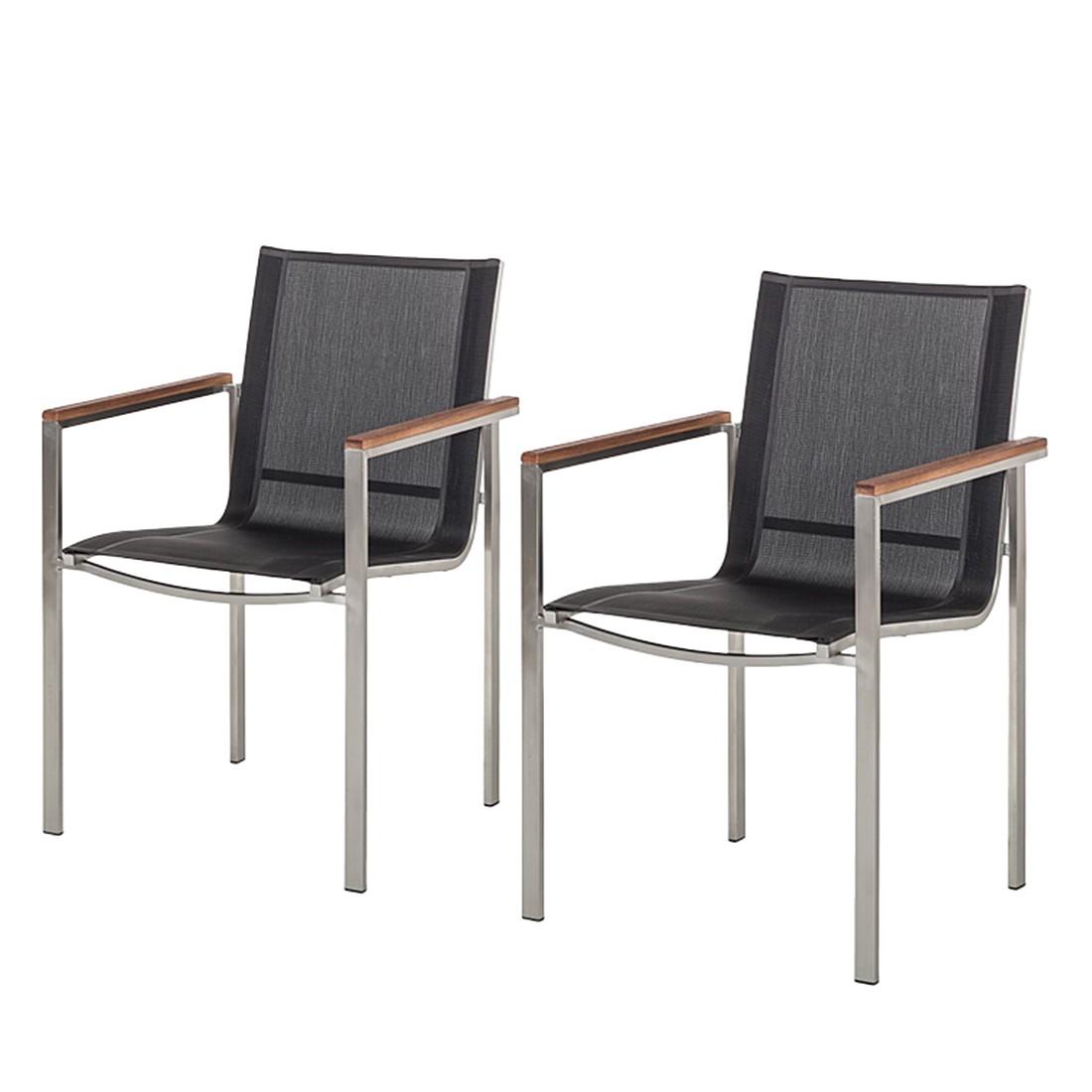 gartenstuhl teak line kiato 2er set edelstahl geb rstet teakholz mit antik ebay. Black Bedroom Furniture Sets. Home Design Ideas