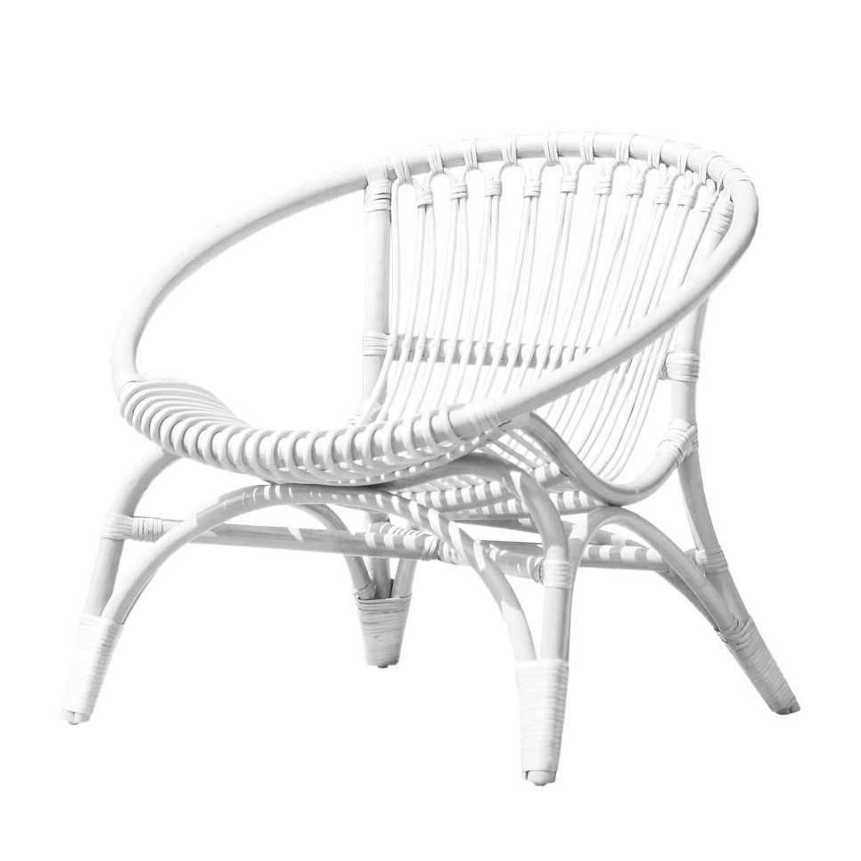 Gartenstuhl Tralian – Rattangeflecht – Weiß, Möbel Exclusive günstig kaufen
