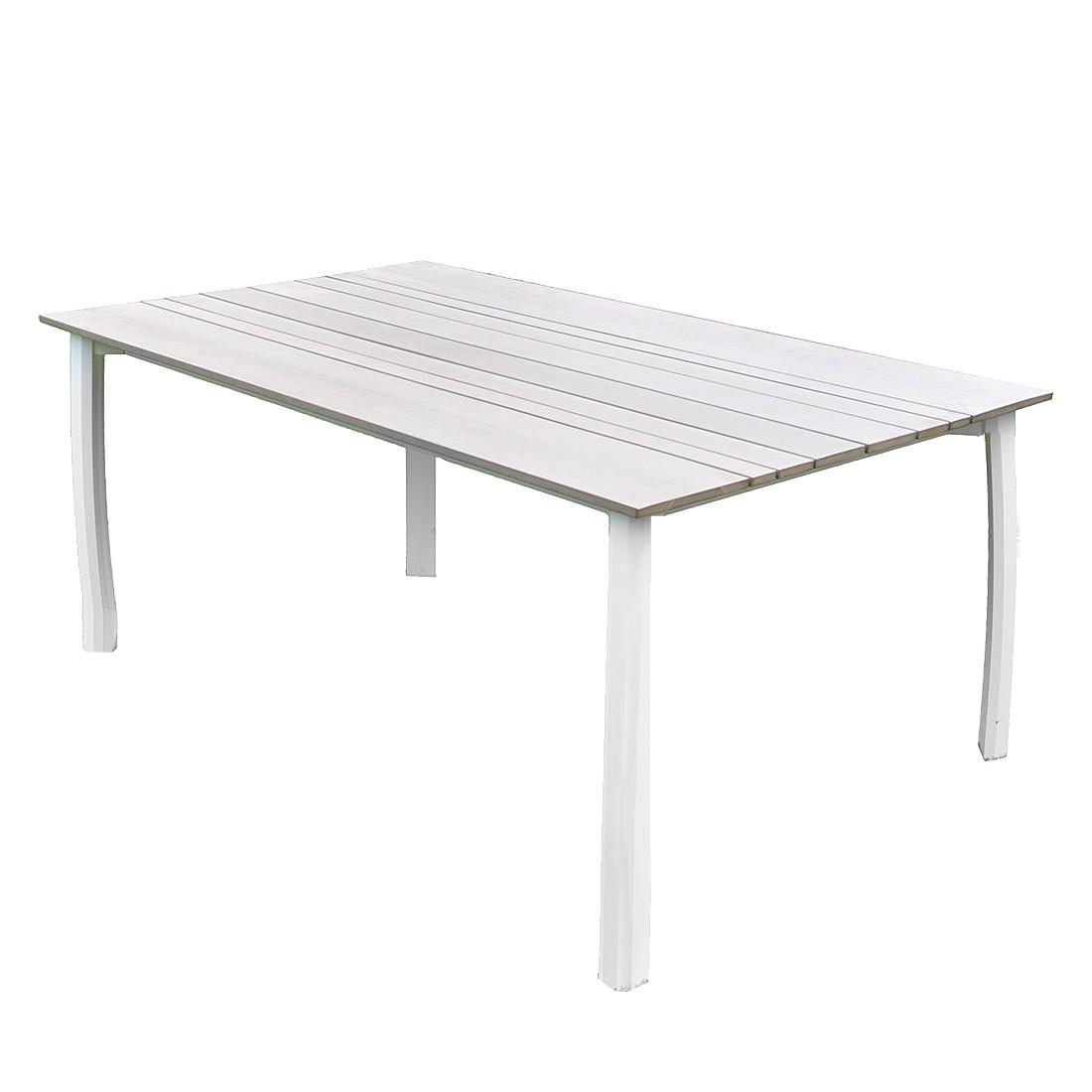 gartentisch escape aluminium kunststoff wei grau. Black Bedroom Furniture Sets. Home Design Ideas