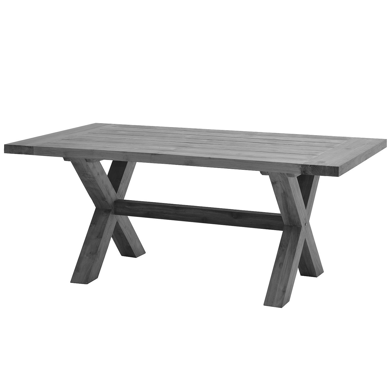 Gartentisch Lincoln - Teak massiv - Grau, Ploß