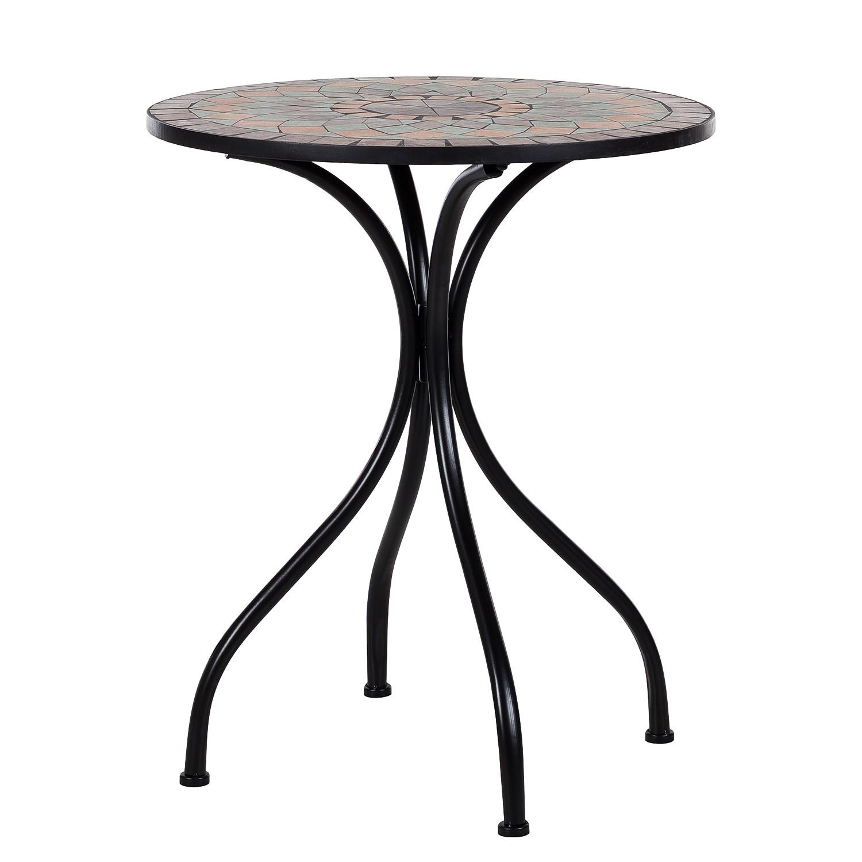 Gartentisch Tosca II - Metall / Keramik, Kings Garden