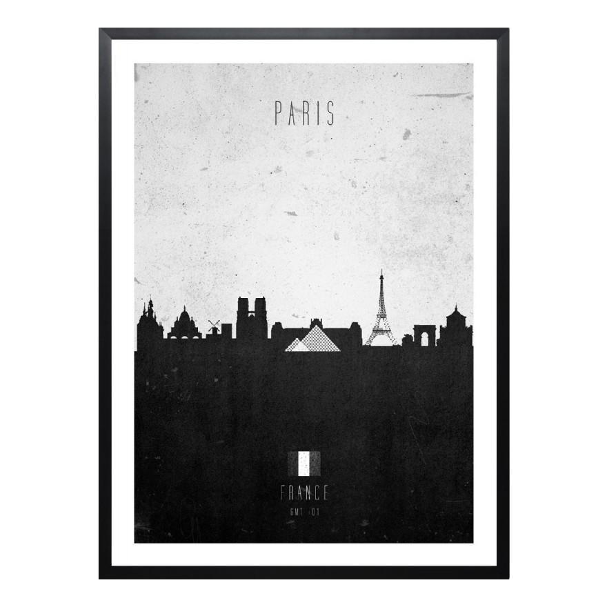 gerahmtes poster paris contemporary cityscape von calm the ham gr e a3 42 x 30 cm juniqe. Black Bedroom Furniture Sets. Home Design Ideas