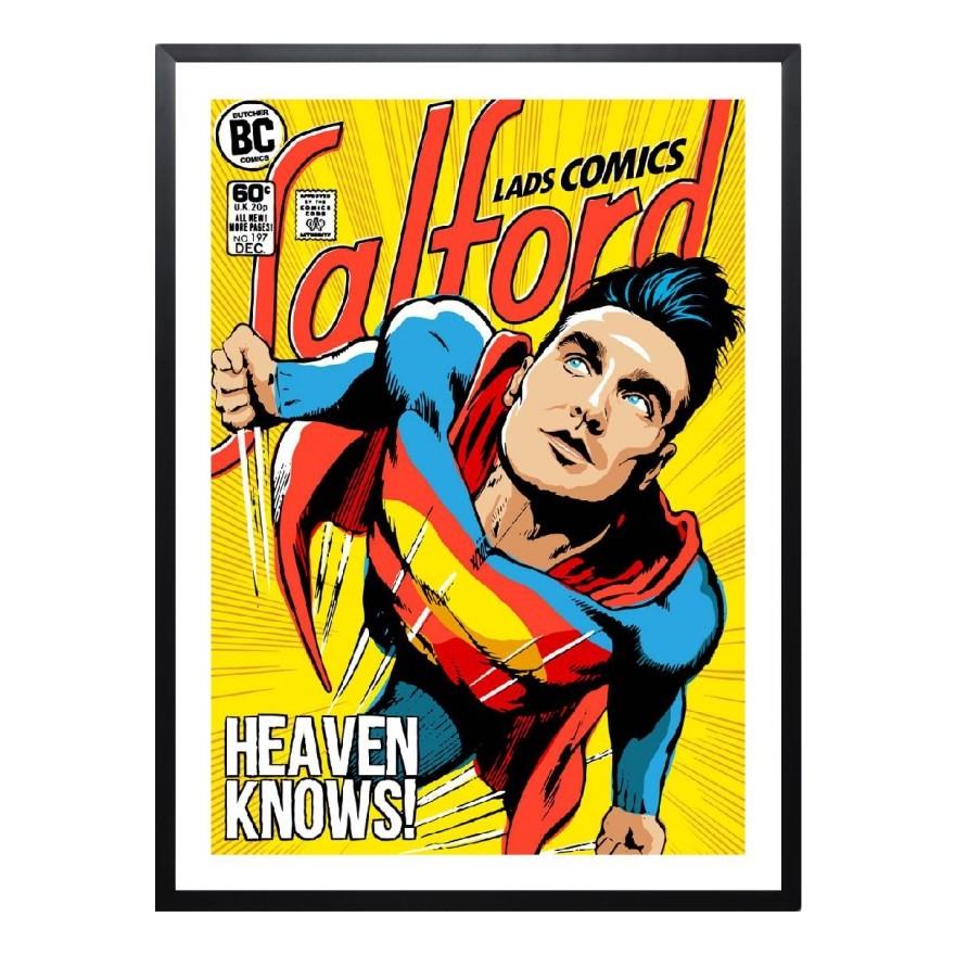 Gerahmtes Poster Post-Punk Comix- Super Moz – Heaven Knows von Butcher Billy – Größe: A5 (21 x 15 cm), Juniqe bestellen