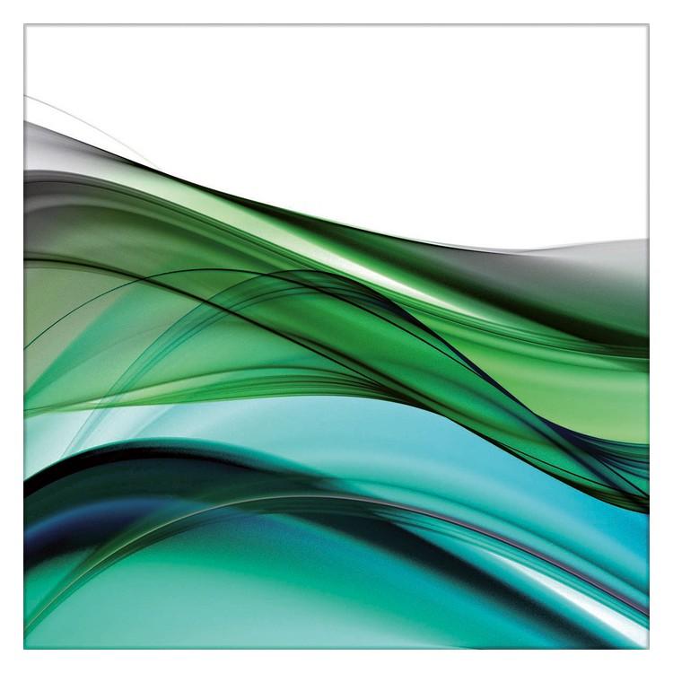 Glasbild Green Wave I – Glas – Grün, ars graphica günstig
