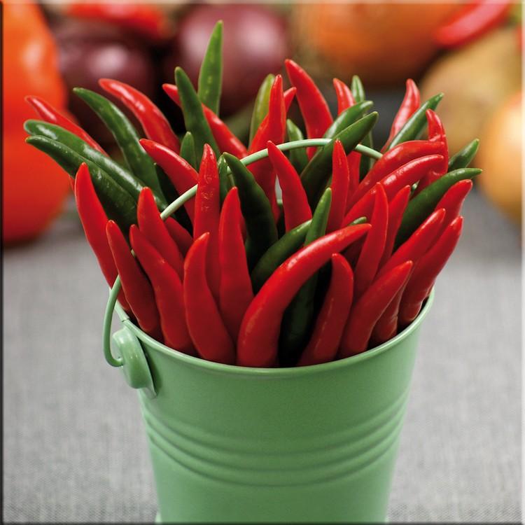 Glasbild Hot & Spicy I – Glas – Rot, ars graphica online kaufen