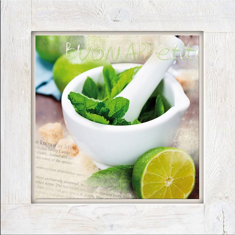 Glasbild Mint I – Glas – Grün, ars graphica günstig kaufen