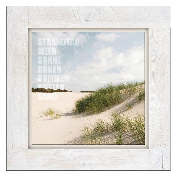 Glasbild Strandtag I – Glas – Beige, ars graphica günstig bestellen