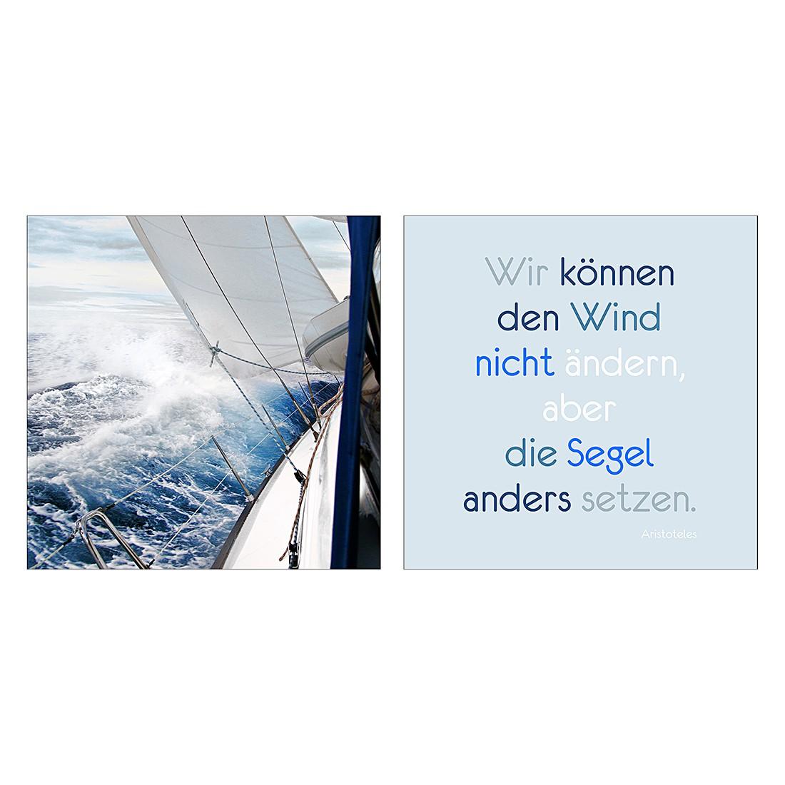Glasbild Wind & Segel (2-teilig), Pro Art günstig kaufen