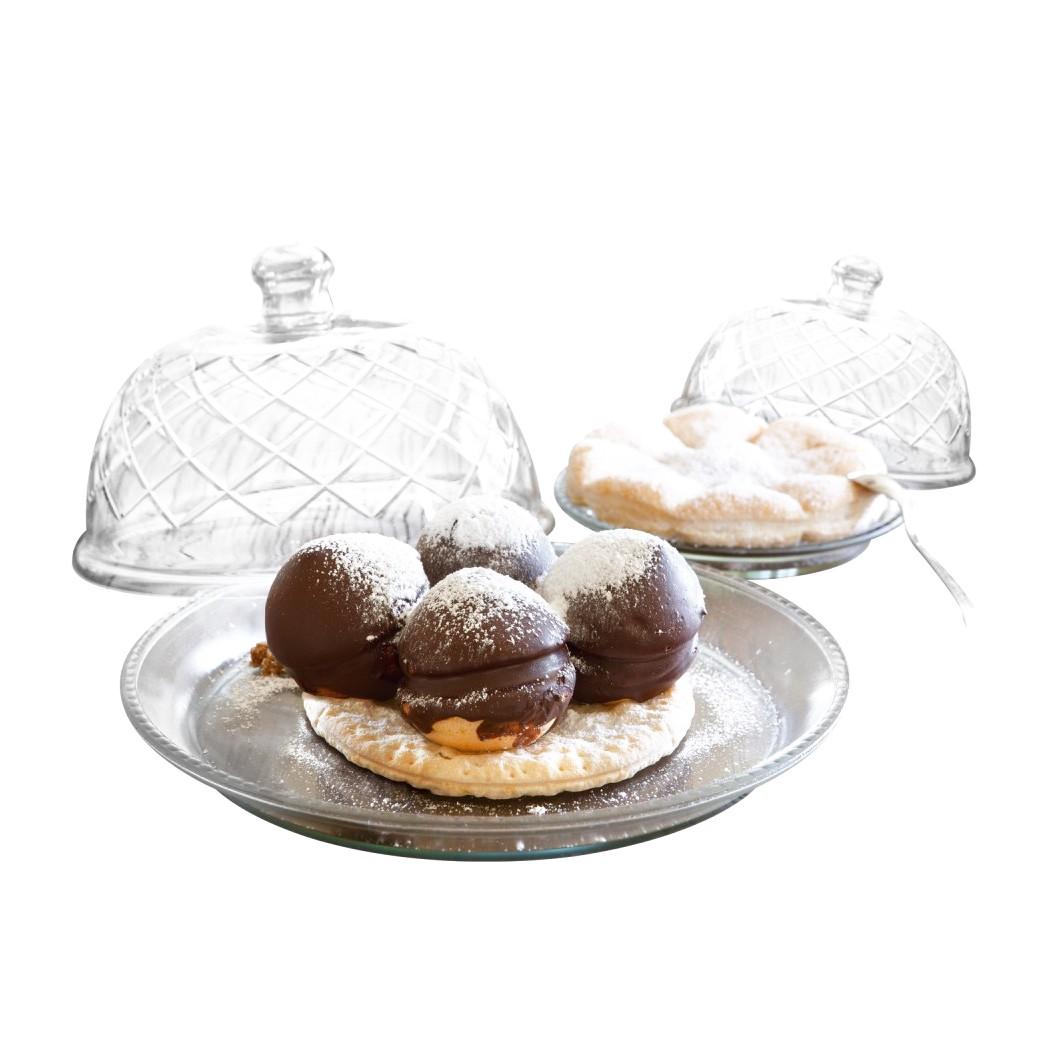Glasglocke mit Platte 4er Set Darlington – Glas klar, Loberon kaufen