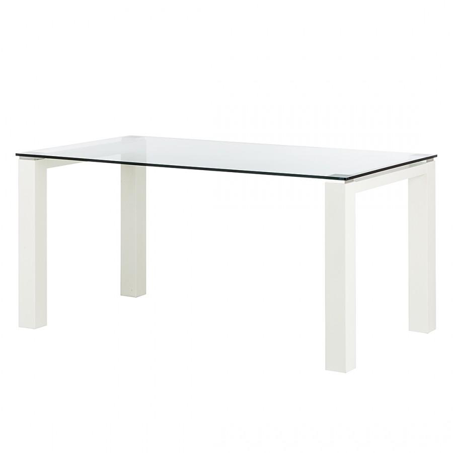 Glastisch Palma I - Klarglas - Weiß - 180 x 90 cm, Niehoff