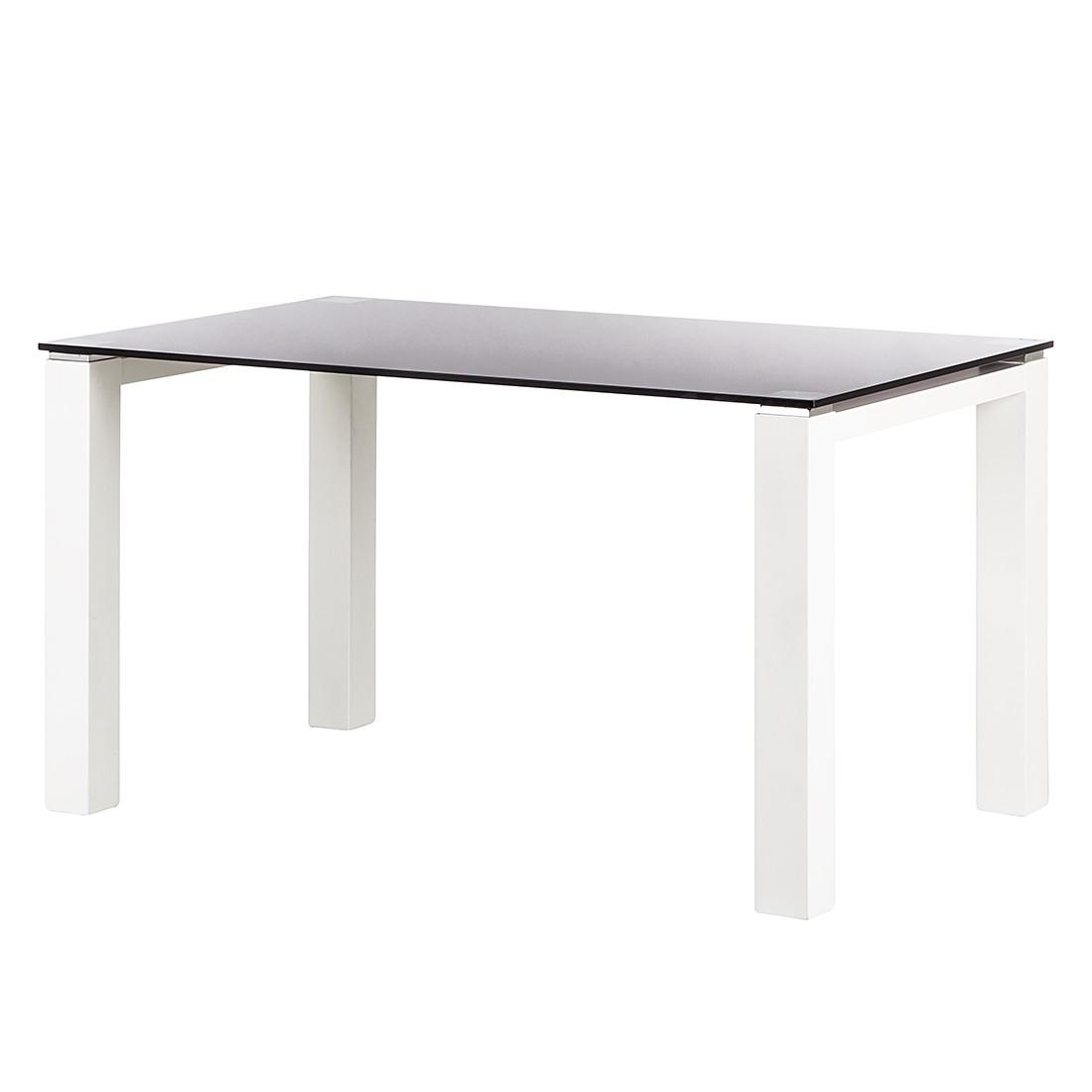 Glastisch Palma – Schwarz Glas/Lack Weiß – 180 x 90 cm, Niehoff jetzt kaufen