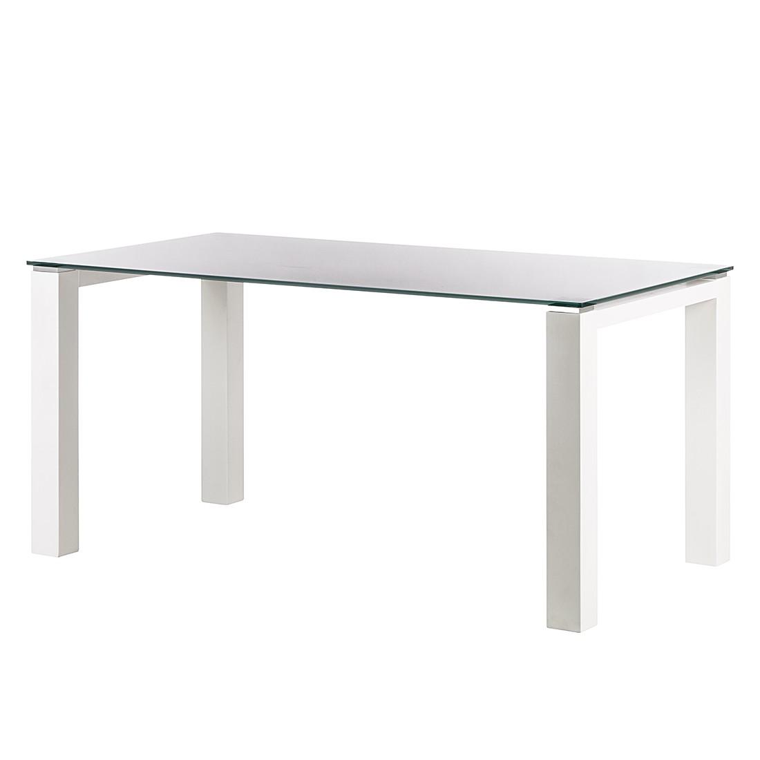Glastisch Palma – Weiß lackiertes Glas/Lack Weiß – 200 x 100 cm, Niehoff günstig kaufen