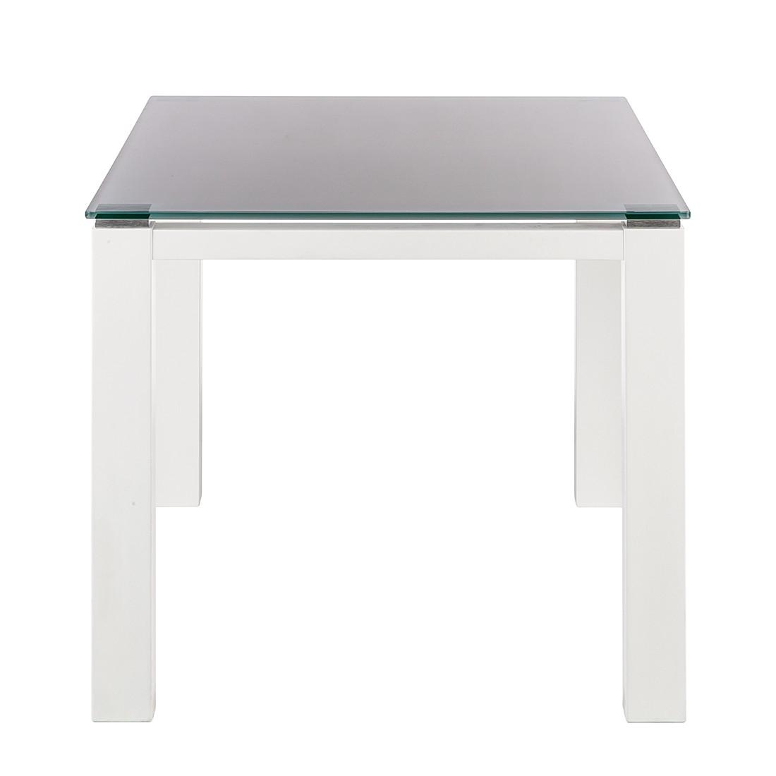 Glastisch Palma – Weiß lackiertes Glas/Lack Weiß – 90 x 90 cm, Niehoff bestellen