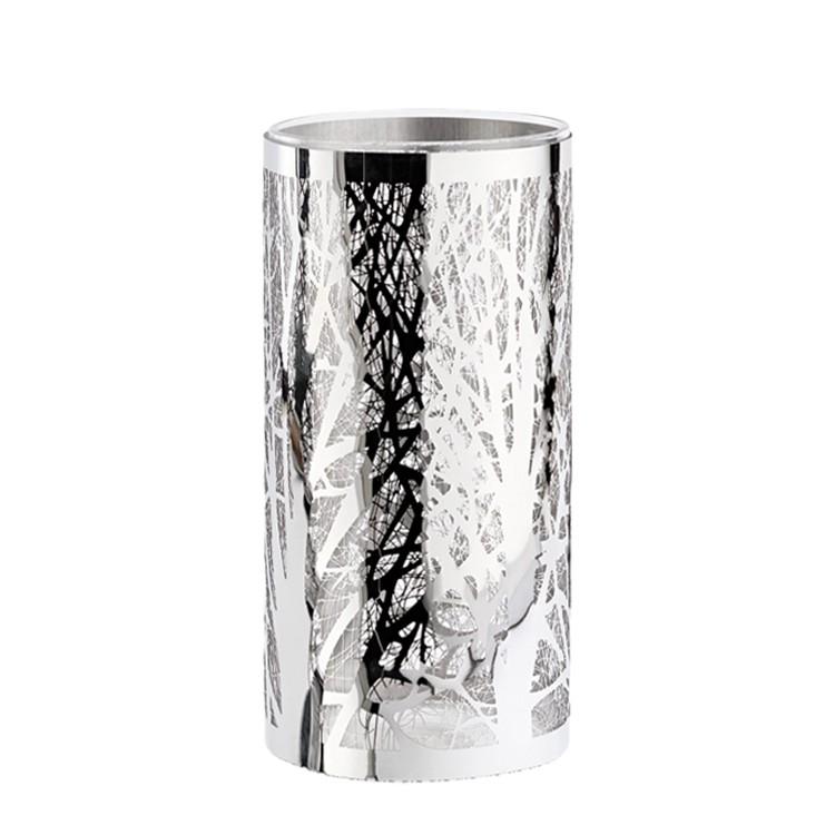 Glaswindlicht (Ø10x20cm) – silber, H.g. günstig bestellen