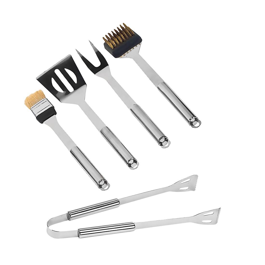 Grillkoffer – Grillzubehör: Edelstahl, Koffer: Aluminium Silber – 5-teilig, Gusta jetzt bestellen