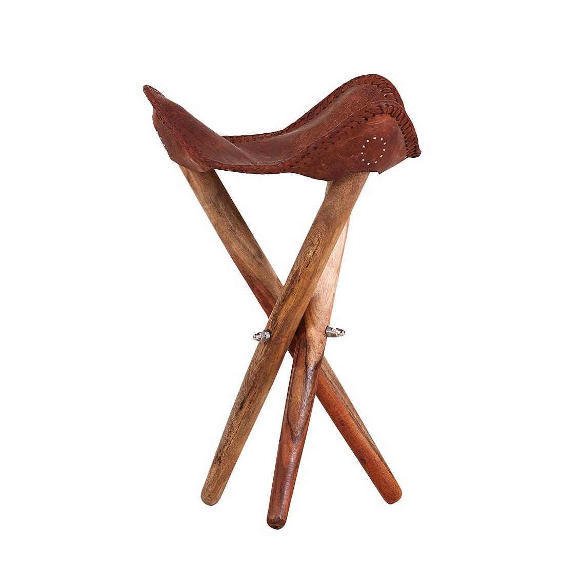 Hocker Salon (Echtleder) – Braun, furnlab online bestellen