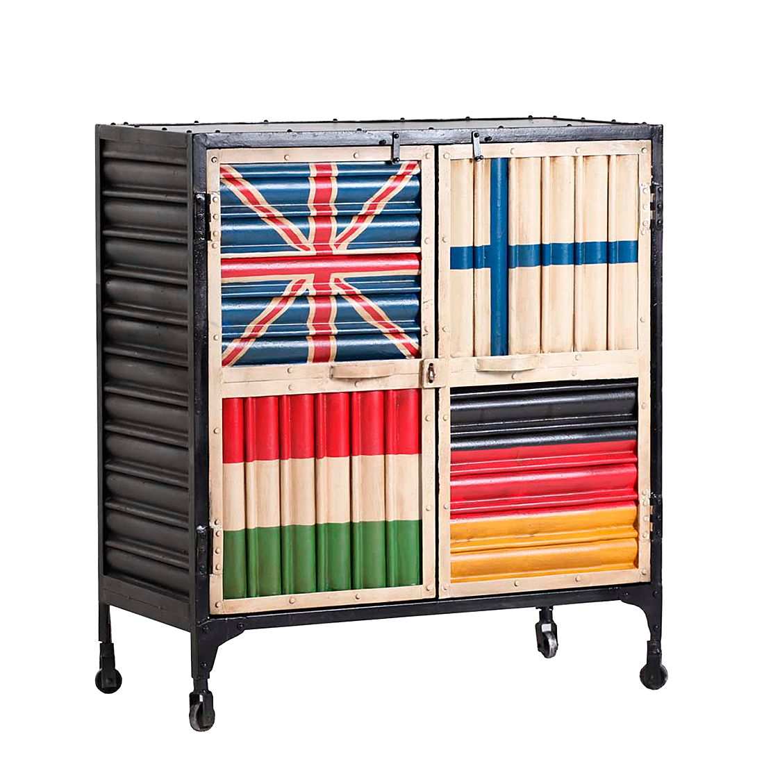 kommode bandera iii eisen furnlab g nstig kaufen. Black Bedroom Furniture Sets. Home Design Ideas
