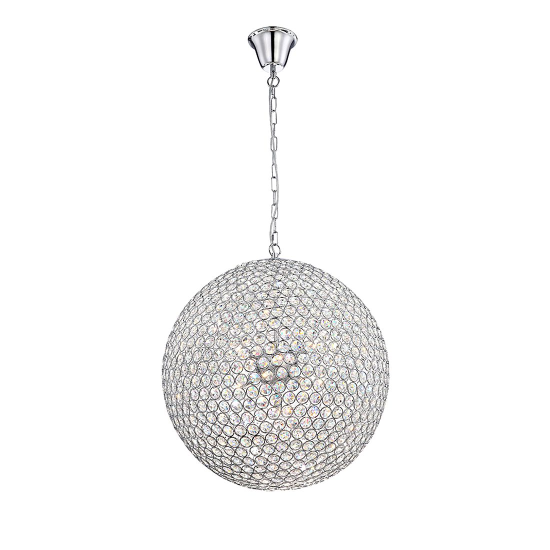 EEK A++, Hängeleuchte EMILIA I – Metall – Silber – 8-flammig, Globo Lighting günstig kaufen