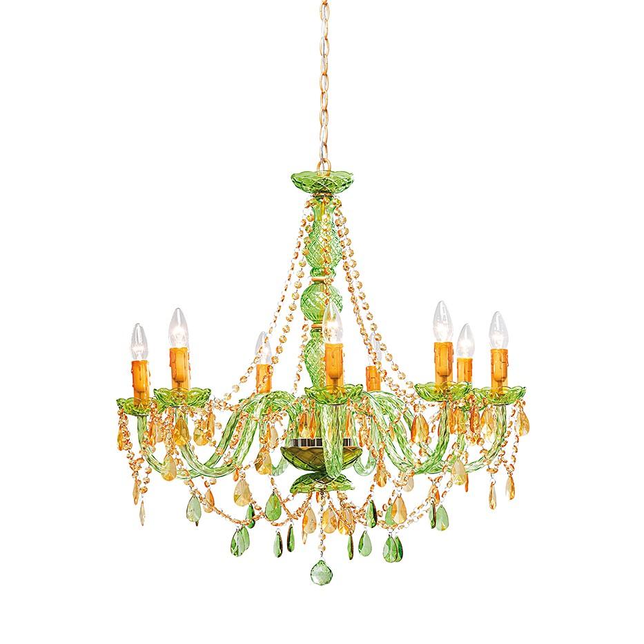 Haengeleuchte Gioiello - Kristall Kupfer-Gruen, Kare Design