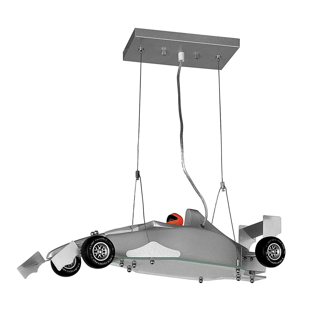 Pendelleuchte Grandprix – Formel 1 – Metall, Glas Silber-Metallic, s`luce günstig bestellen