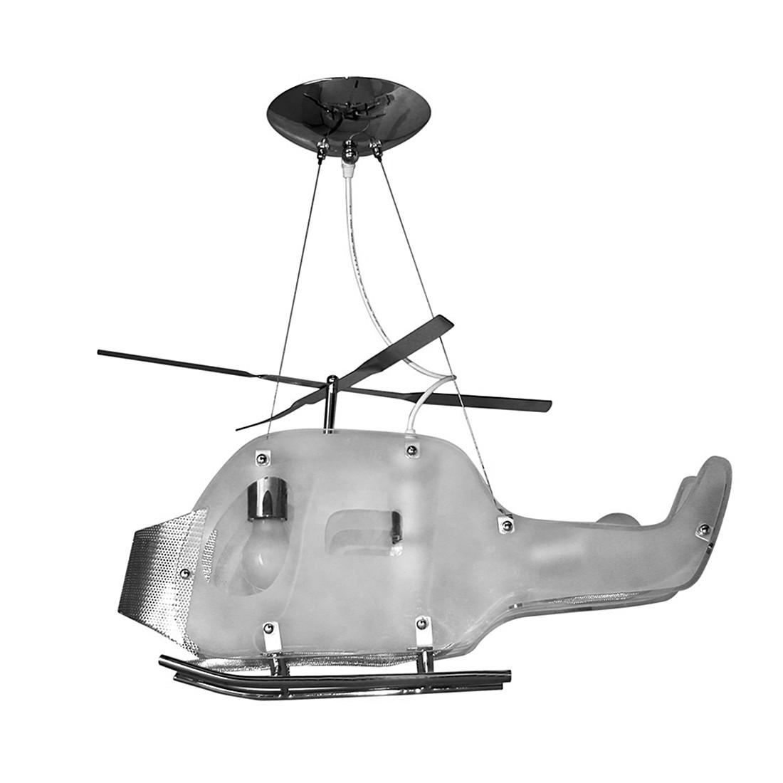 Pendelleuchte Helix - Hubschrauber - Metall Silber, s`luce