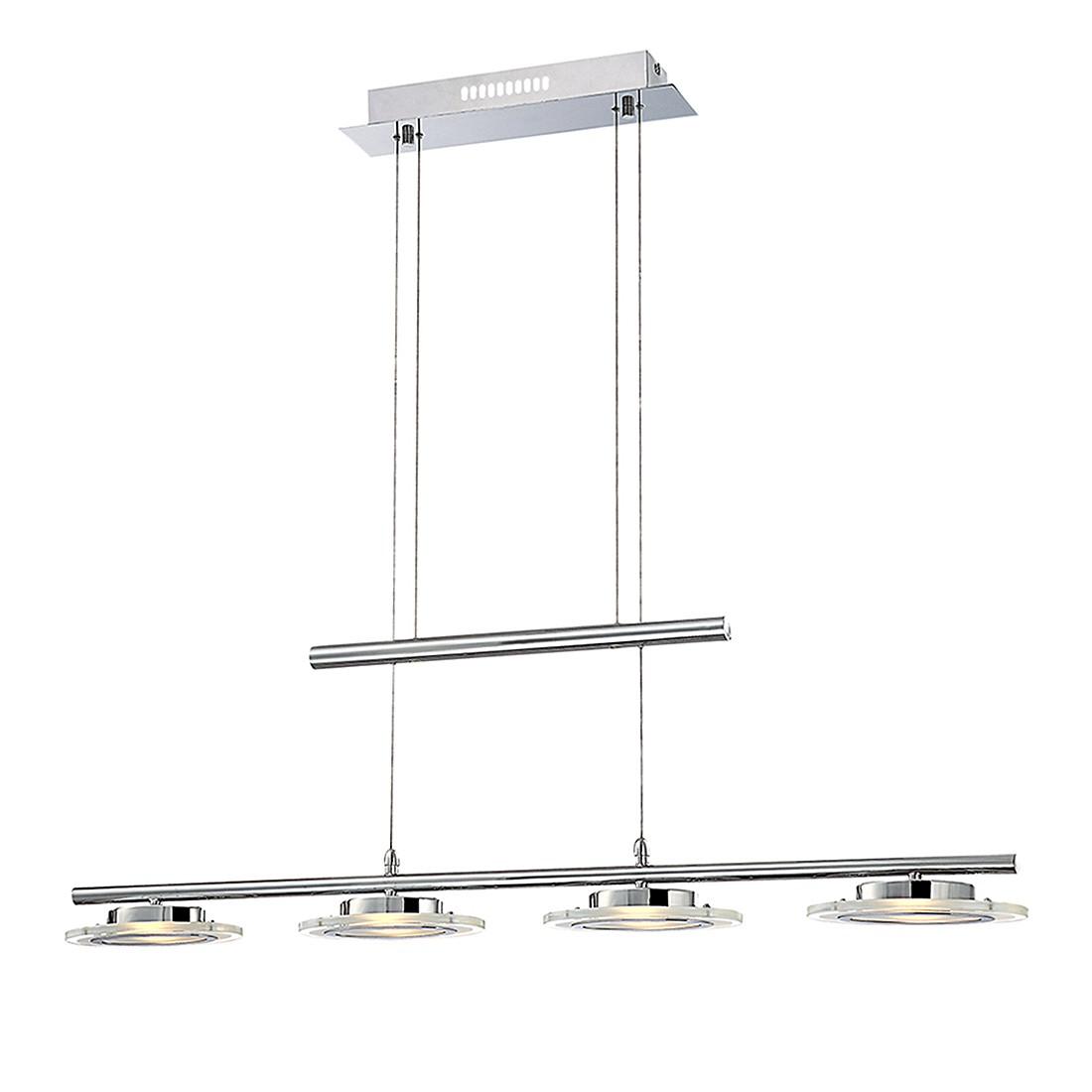 Hängeleuchte NESTOR I – Metall – Silber – 4-flammig, Globo Lighting günstig kaufen