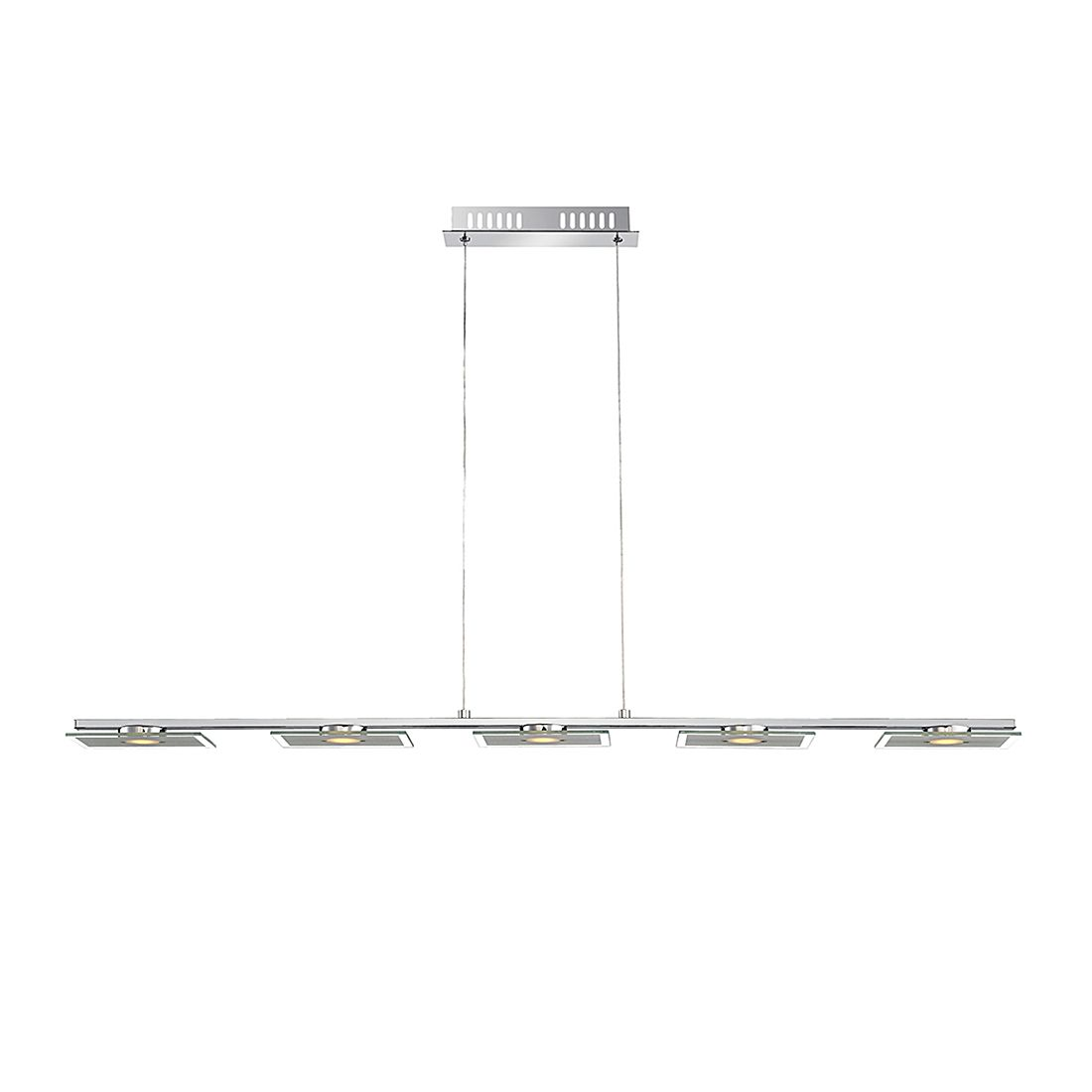 EEK A+, Hängeleuchte TASHA I – Metall – Silber – 5-flammig, Globo Lighting kaufen