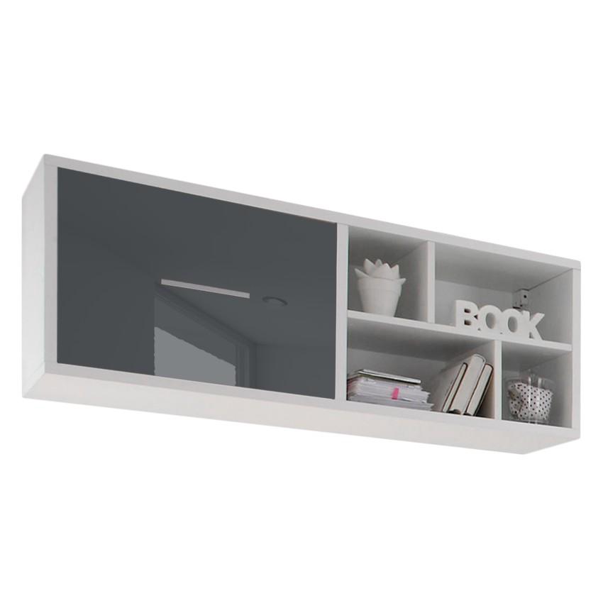 h ngeregal colori wei glas graublau mooved mpwkj0040. Black Bedroom Furniture Sets. Home Design Ideas
