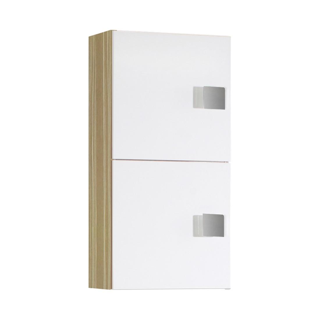 h ngeschrank genf wei glanz zebrino beige 4 t rig. Black Bedroom Furniture Sets. Home Design Ideas
