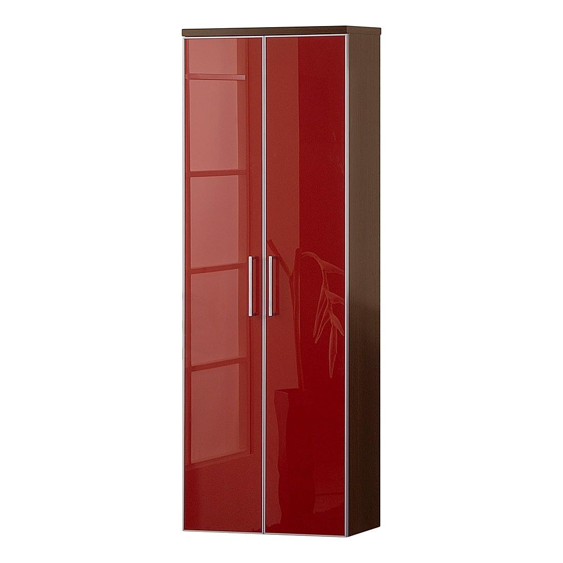 Hängeschrank Sarota II – Wenge/Glas Rot, Voss bestellen