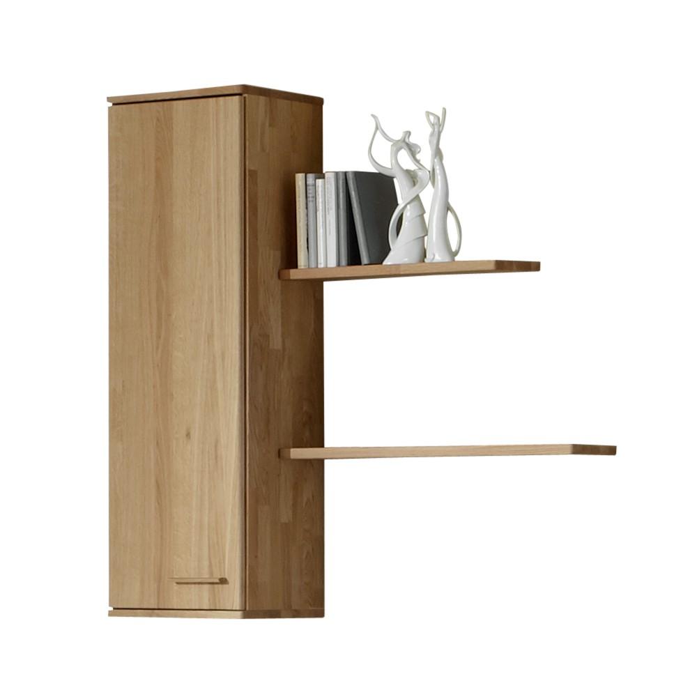 Hängeschrank Set Operra (3-teilig) – Eiche Massivholz – Hängeschrank & 2 Regalböden – Türanschlag: Links, Franco Möbel günstig online kaufen