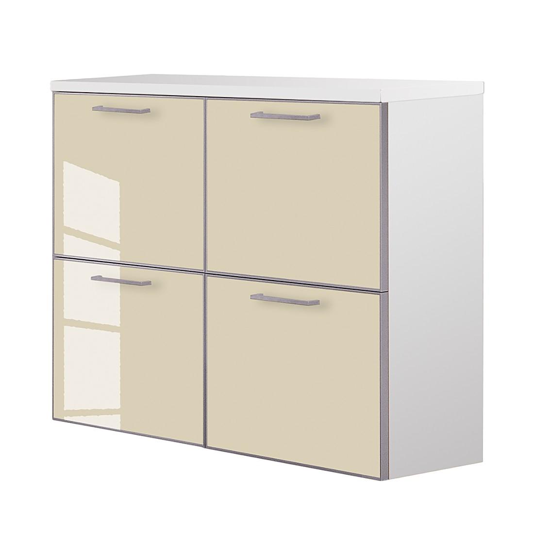 Hängeschuhschrank Sarota II – Weiß/Glas Elfenbein, Voss jetzt kaufen