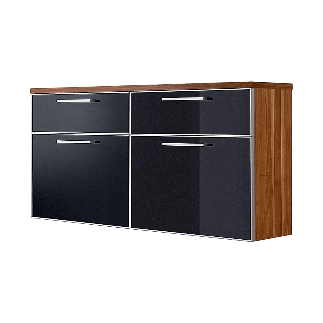 h ngeschuhschrank sarota iv nussbaum glas anthrazit voss g nstig kaufen. Black Bedroom Furniture Sets. Home Design Ideas