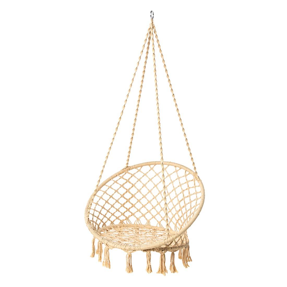 h ngesessel mit kissen baumwolle polyester creme pure day. Black Bedroom Furniture Sets. Home Design Ideas