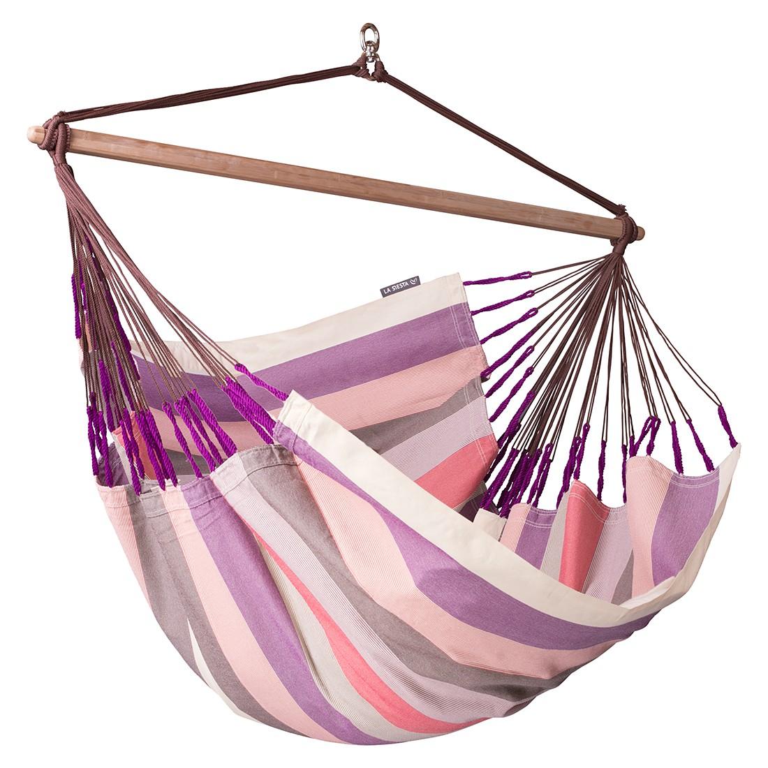 Hängestuhl Lounger Domingo - Violett/Beige/Pink, La Siesta