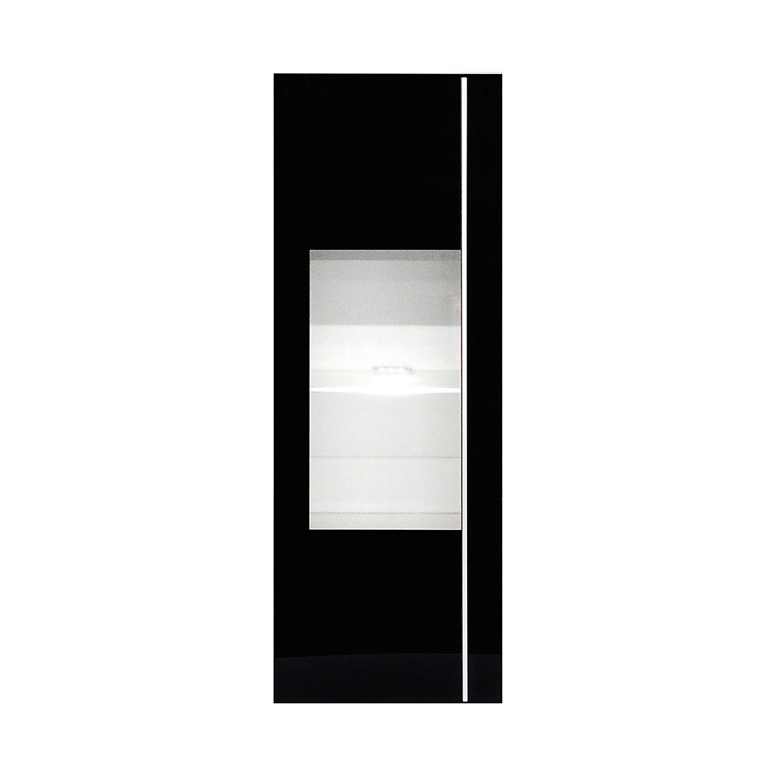 Hängevitrine Cincinatti hoch - Weiß / Schwarzglas