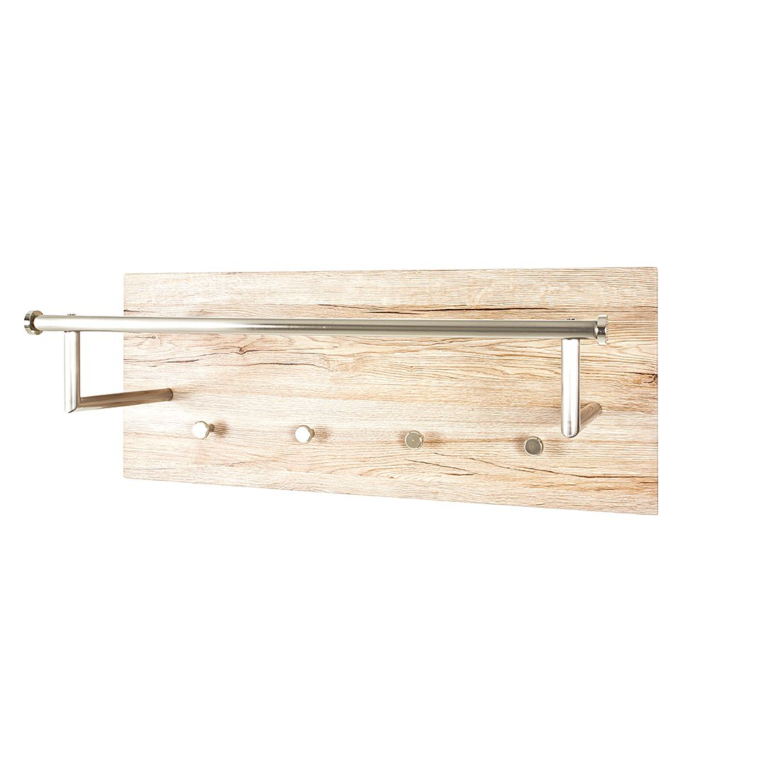 wandgarderobe felipe i edelstahl eiche sanremo dekor. Black Bedroom Furniture Sets. Home Design Ideas