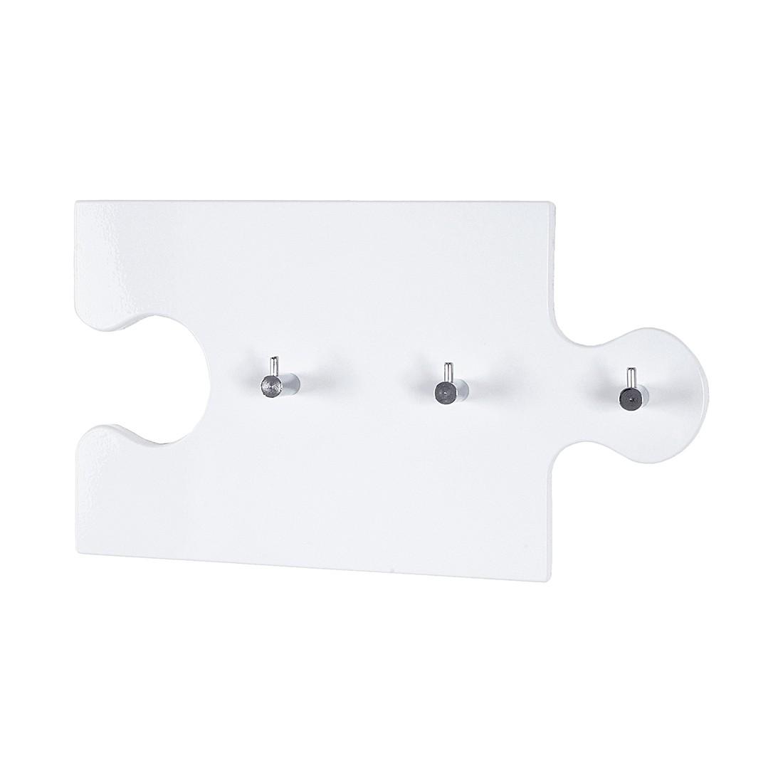 Wandgarderobe Oscar – Hochglanz Weiß/Chrom, Home Design kaufen