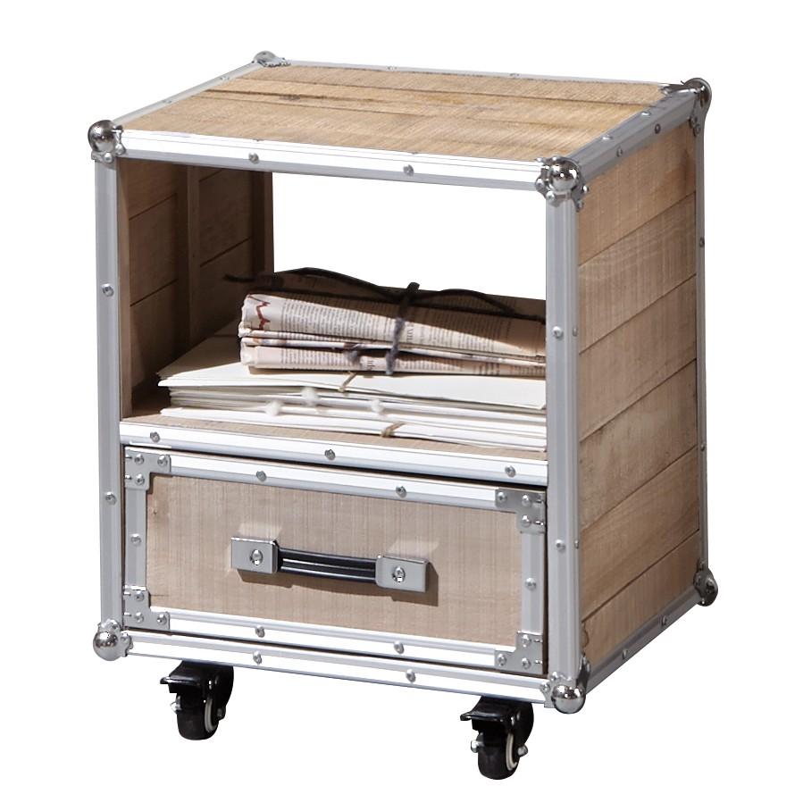 beistelltisch palmori kiefer massiv aluminium nachttisch. Black Bedroom Furniture Sets. Home Design Ideas