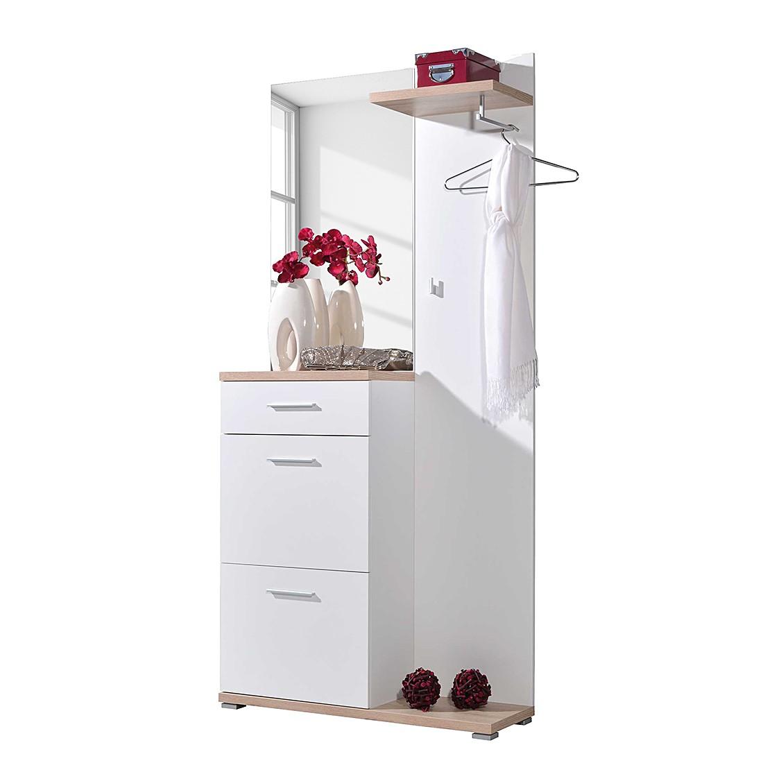 Halmeubel hoogglans wit 70x30cm aspect design aanbieding kopen for Aspect design